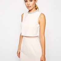 ASOS Embellished Collar Stand Dress