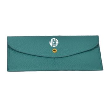 Night Life Monogrammed Wallet - Turquoise