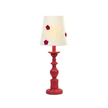 Mini Table Lamp in Ruby Red