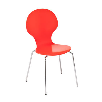 Space Age Chairs in Red/Orange- Set of 2