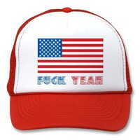 America, Fuck Yeah Trucker Hat from Zazzle.com