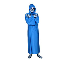 Full Body Blue Lycra Spandex Back Zipper Human Skeleton Fancy Dress for Halloween Zentai Suit with a Cape [TWL1112260971] - 36.79 : Zentai, Sexy Lingerie, Zentai Suit, Chemise