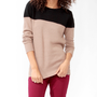 Colorblocked Longline Sweater