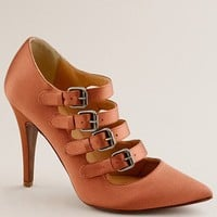 Women's new arrivals - shoes - Adrianna satin buckle pumps - J.Crew