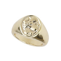 Freedom Found Engraved Pinky Ring - Gold
