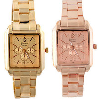 Classic Gold Watch - Rose Gold Watch - $26.00