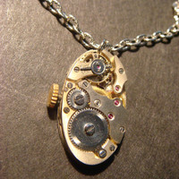 Steampunk Watch Movement Necklace (580)