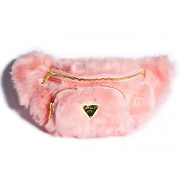 Joy Rich Candy Fur Waist Pack