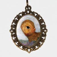 Cyclops Necklace, Odilon Redon, Oval Pendant