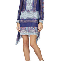 BCBG Caralyne Long-Sleeve Relaxed-Fit Dress