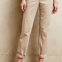 Pilcro Hyphen Embroidered Chinos Beige