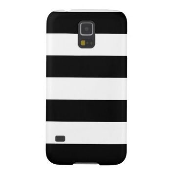 Black and White Striped - Samsung Galaxy S5 Case