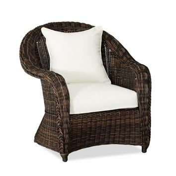 TORREY ALL-WEATHER WICKER ROLL ARM OCCASIONAL CHAIR