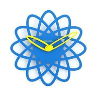 Stylish Flower Blossom Wall Clock