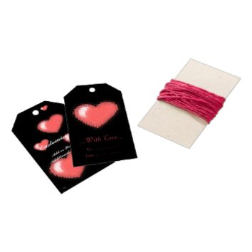 Tiled Mosaic Heart (Pink) Pack Of Gift Tags