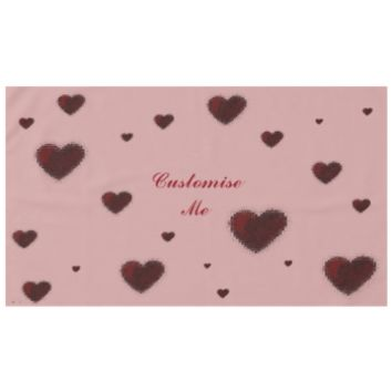Tiled Mosaic Heart (Deep Red) Tablecloth