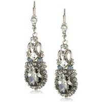 "Amazon.com: Sorrelli ""Pewter"" Crystal Vintage Inspired Silver-Tone Earrings: Jewelry"
