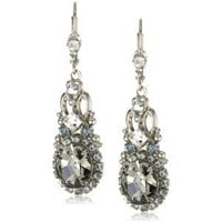 Amazon.com: Sorrelli &quot;Pewter&quot; Crystal Vintage Inspired Silver-Tone Earrings: Jewelry