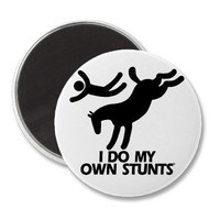 Stunts - Funny Bucking Horse Fridge Magnets from Zazzle.com