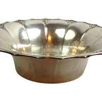 French Fluted Silverplate Bowl
