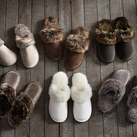 Luxe Faux Fur Scuff Slippers