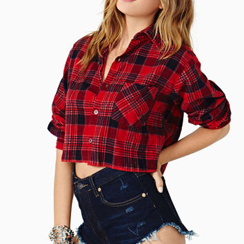Taylor Cropped Flannel