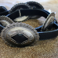 BLACK PHOENIX CONCHO BELT