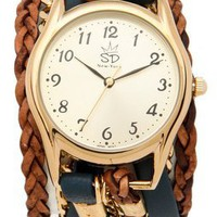 Sara Designs Leather & Chain Wrap Watch | SHOPBOP