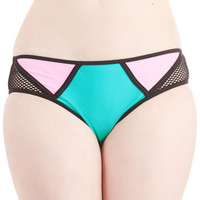 ModCloth Colorblocking Colorblock the Boat Swimsuit Bottom