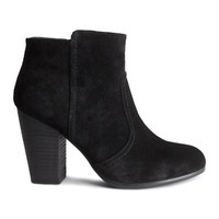 H&M Suede Ankle Boots $59.95