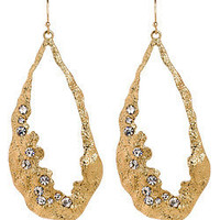 Blu Bijoux Gold Tear Drop Hoop Earrings - Max and Chloe