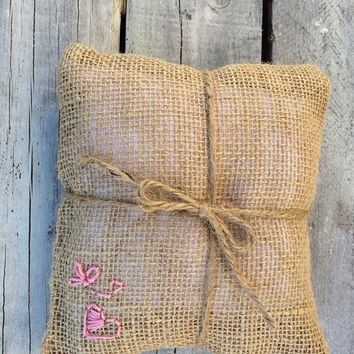 Wedding Pillow, Custom Ring Pillow, Wedding Ring Pillow, Country Wedding, Ringbearer, Rustic, Favor, Wedding Rings, Ring, Ring Pillow