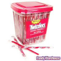 Twizzlers Strawberry Licorice Twists - Wrapped: 180-Piece Tub | CandyWarehouse.com Online Candy Store