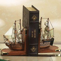 Nautical Bookends  - Nautical Gifts And Decor -  Wooden Ship Models, Nautical Decor & Gifts - GoNautical