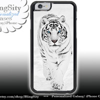 White Tiger Iphone 6 Case Photo iPhone 5C 6 Plus 4 5 Case Tiger in Snow Cover Skin Shell Back