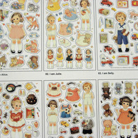Deco Stickers Paper Doll Mate Transparent Set of   Ver 2
