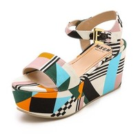 MSGM Ankle Strap Wedges