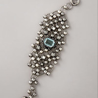 Lanvin - Beaded-Chain Cuff Bracelet, Gunmetal - Bergdorf Goodman
