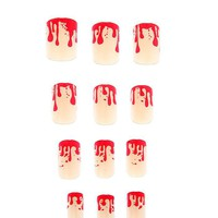 Blood Drip Press-On Nails - 186240