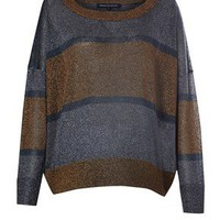 STRIPE TWINKLE KNIT LS JUMPER - New Arrivals - French Connection Usa