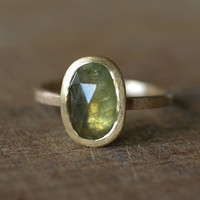 Green Sapphire Ring