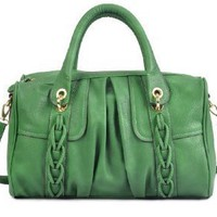 20210GR Green Miss Unique Deyce 'Carlie' Stylish PU Close-Out High Quality Women/Girl Fashion Designer Work School Office Lady Student Handbag Shoulder Bag Purse Totes Satchel Clutches Hobos: Amazon.com: Clothing