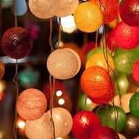20 x cotton ball string light strand wedding decor home display hanging indoor outdoor light lantern
