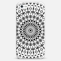 Geometric mandala iPhone 5 case by Julia Grifol designs. Surface pattern designer. | Casetify
