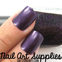 Violet Night Sky - Dark Purple Shimmer Nail Polish 9.8ml from nailartsupplies
