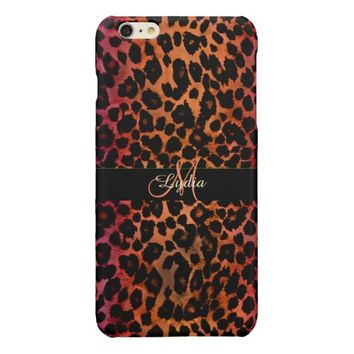 Hot Spicy Leopard Personalized iPhone 6 Case