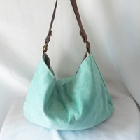 Hobo - Vegan suede slouch bag - Handmade handbag - Pick your COLOR