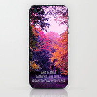 And In That Moment, Our Lives Began To Fall Into Place. iPhone & iPod Skin by Josrick | Society6