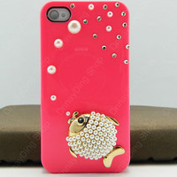 iphone 4 case fish   pearls iphone case iPhone cover  14 color choices