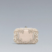 SATIN AND PEARLS BOX BAG - Woman - New this week - ZARA United States